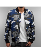 Red Bridge Übergangsjacke Camo Bomber blau