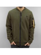Reebok Куртка-бомбардир Fleece зеленый