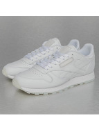 Reebok Baskets CL Leather Solids blanc
