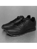 Reebok Baskets CL Leather Solids noir
