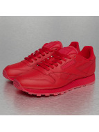 Reebok Baskets CL Leather Solids rouge