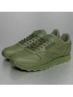 Reebok Baskets CL Leather Solids vert