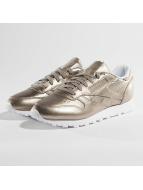 Reebok Classic Leather Melted Metallic Pearl Sneakers Metallic Grey Golden/White