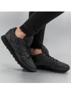 Reebok sneaker CL Leather Quilted zwart