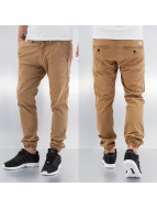 Reell Jeans Chinot/Kangashousut Jogger ruskea