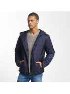 Reell Jeans Lightweight Jacket Hooded Stitch blue