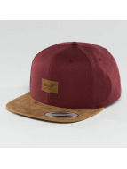 Reell Jeans Snapback Cap Suede 6 Panel rot