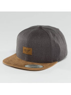 Reell Jeans Snapback Caps Suede 6 Panel grå