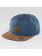 Reell Jeans Snapback Caps Suede 6 Panel modrý