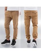 Reell Jeans Spodnie wizytowe Jogger brazowy