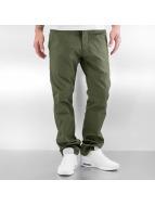 Reell Jeans Spodnie wizytowe Straight Flex oliwkowy