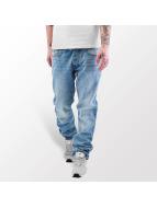 Rocawear Dżinsy straight fit Leather Patch niebieski