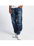 Rocawear Tapered Loose Fit Jeans New Mid Blue