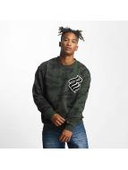 Rocawear Retro Army Sweatshirt Olive Camo