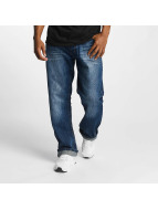 Rocawear Mirror Tapered Loose Fit Jeans Fashion Mid Wash