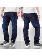 Rocawear Straight fit jeans Leather Patch blauw
