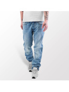 Rocawear Straight Fit Jeans Leather Patch modrý