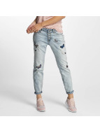 Rock Angel Loose Fit Jeans Rosie Badges blue