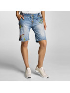 Rock Angel shorts Alva Flowers blauw