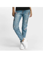 Rock Angel Straight fit jeans Rosie Badges blauw