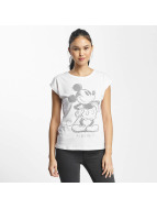 Rock Angel T-Shirt Mickey Mouse blanc