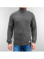 Selected Пуловер Brick Turtle Knit серый