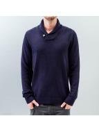 Selected Chip Shawl Neck Knit Sweatshirt Night Sky
