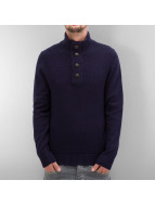 Selected Pullover Staten Button bleu