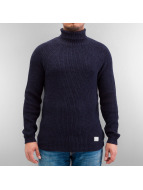 Selected Pullover Brick Turtle Knit blue