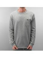 Selected Pullover Delik grau