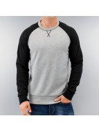 Selected Pullover Urban Varsity grau