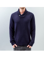 Selected Chip Shawl Neck Knit Sweatshirt Night Sky