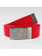 Seven Nine 13 Gürtel Jaws Stretch rot