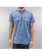 SHINE Original Hemd Washed And Worn Out blau