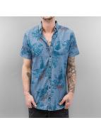 SHINE Original Hemd Palm Print blau