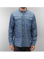 SHINE Original Kauluspaidat Striped Chambray sininen