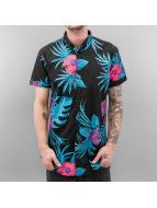 SHINE Original overhemd Palm Print zwart