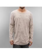 SHINE Original Pitkähihaiset paidat Torn Long Oversize beige