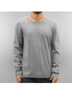 SHINE Original Pullover Acid Wash Roll Edge grau