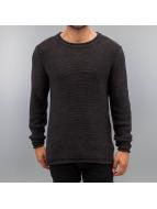 SHINE Original Pullover Distressed schwarz