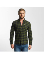 SHINE Original Shirt Checked Twill olive