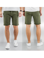 SHINE Original shorts Stretch Chino olijfgroen