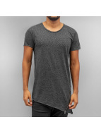 SHINE Original T-Shirt Raw Cut Asymmetric black