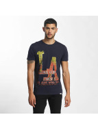 SHINE Original T-Shirt Denim City Print blau