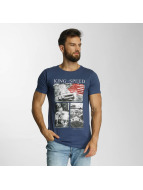 SHINE Original T-Shirt Salvatore Photo Printed blue