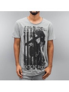 SHINE Original T-Shirt Photo Print grau