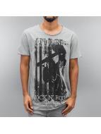 SHINE Original T-Shirt Photo Print grau