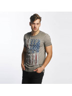 SHINE Original T-Shirt Oil Washed Printed grau