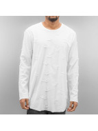 SHINE Original T-Shirt manches longues Torn Long Oversize blanc