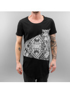 SHINE Original T-Shirt Long All Over Printed schwarz